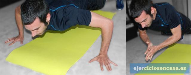 Flexiones con palmada