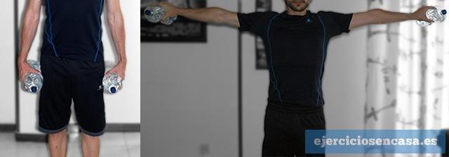 Elevaciones laterales de hombros