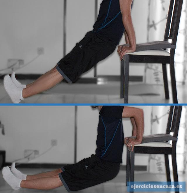 Ejercicio de triceps en casa