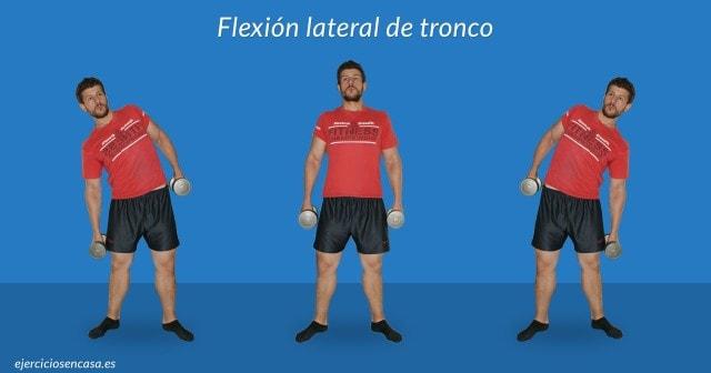 Flexión Lateral de tronco con mancuernas