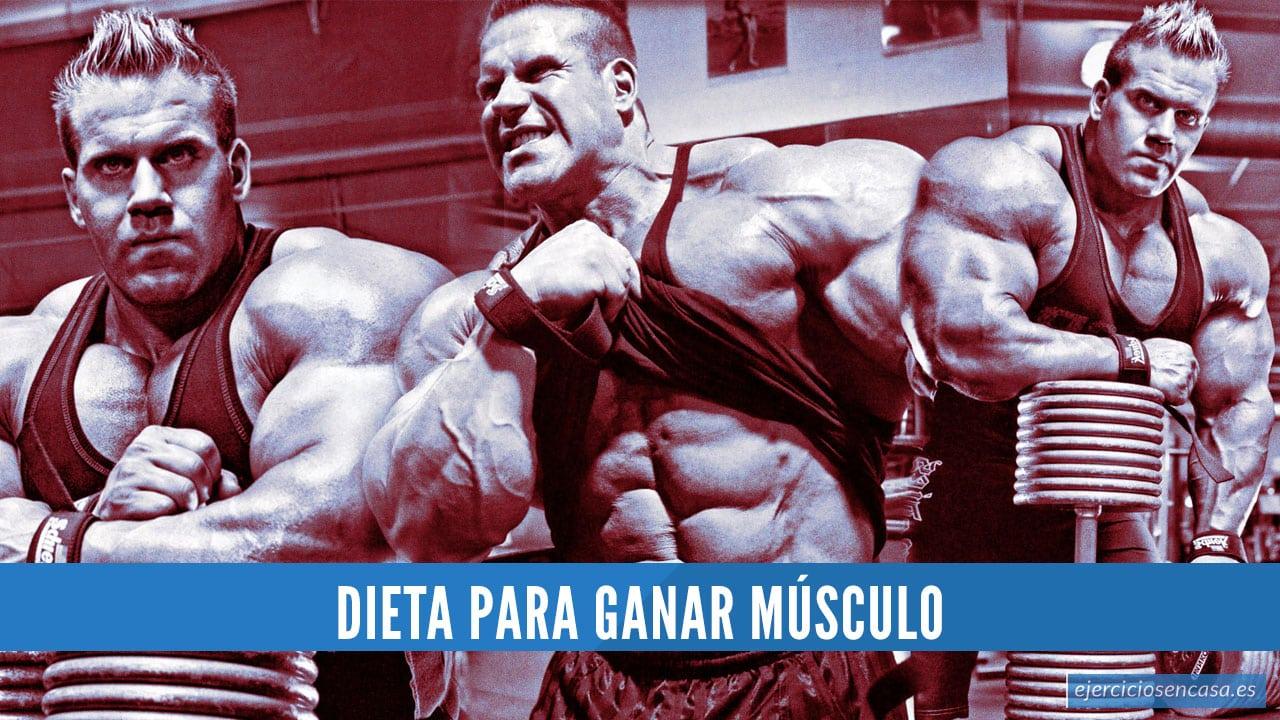 Dieta para ganar músculo