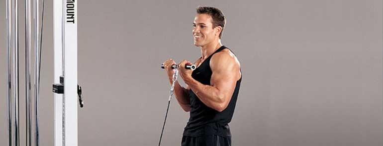 Curl de bíceps con cable
