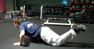 Ejercicios para pecho: Flexiones con rodillas apoyadas