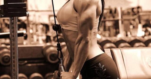 Extensiones de tríceps con polea