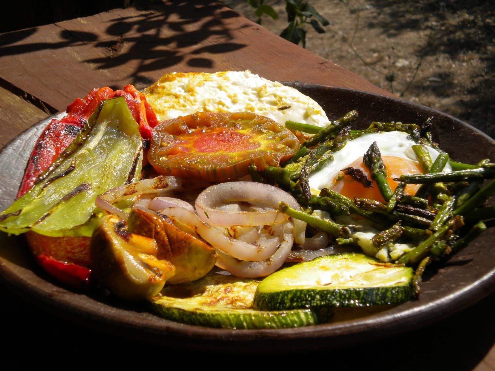 Cenas saludables parrillada de verduras asadas for Parrillada verduras
