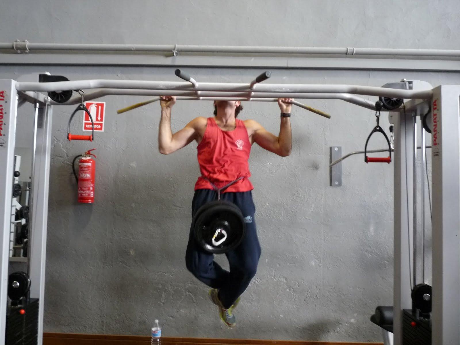 rutina de ejercicios de dominadas