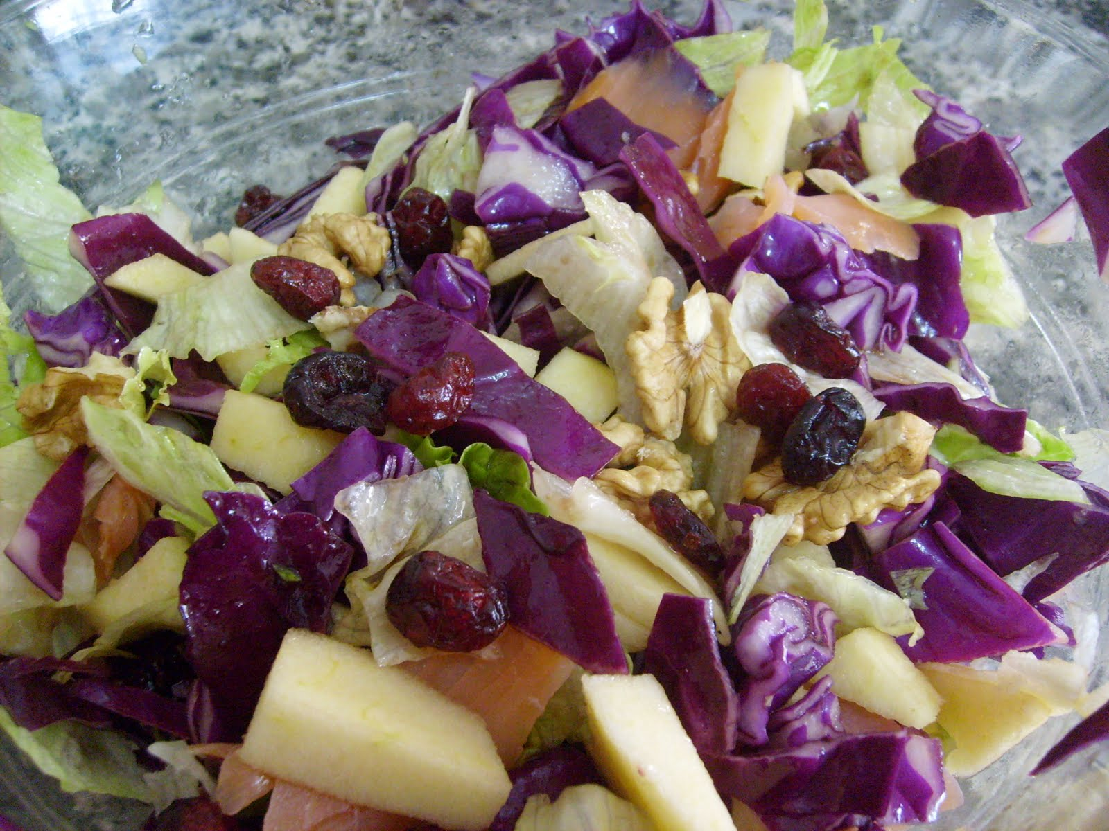 Recetas para adelgazar ensalada de lombarda con salsa de for Cocinar lombarda