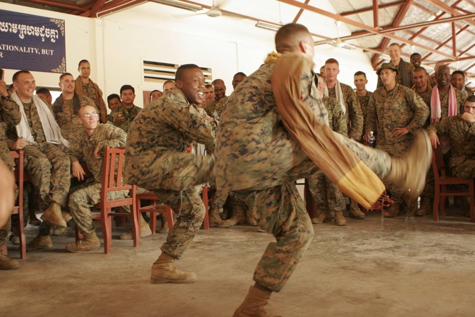 entrenamiento marine