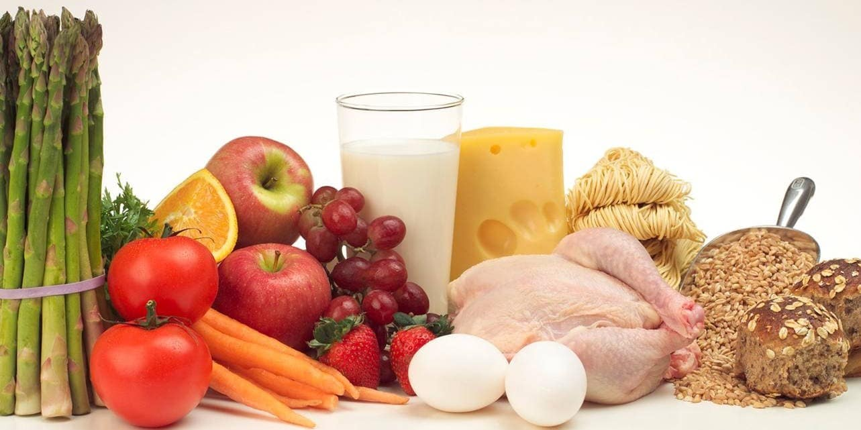 Alimentos de una dieta correcta