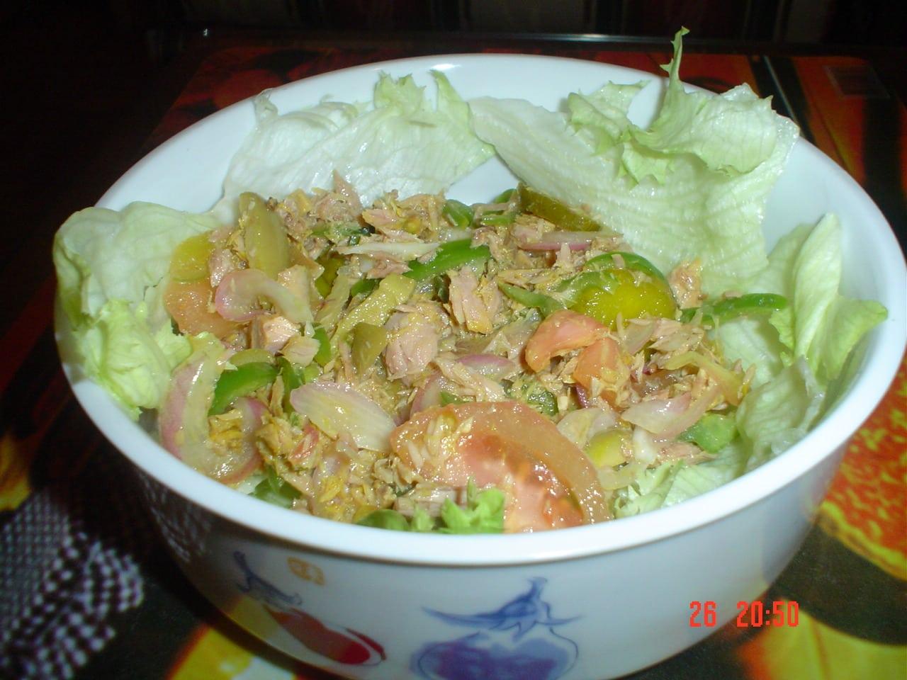 ensalada de proteínas