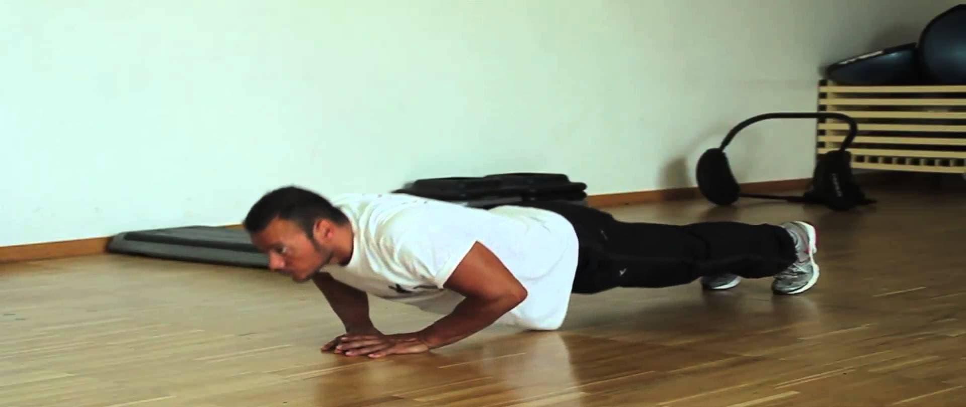 flexiones asimétricas alternas