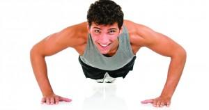 Flexiones con toque de hombro para pecho