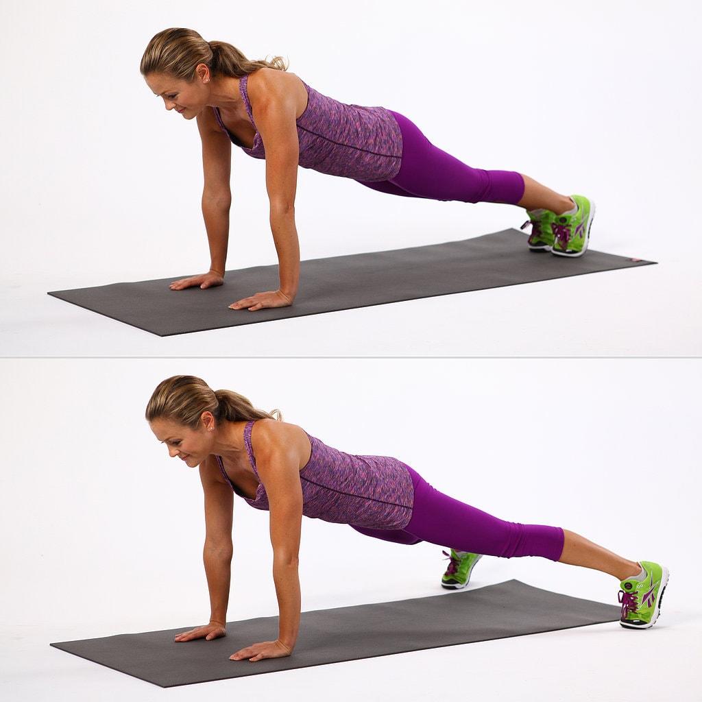 Plancha con flexión