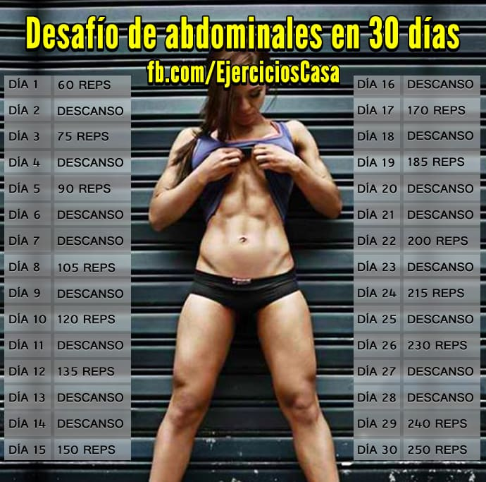 Entrenamiento para definir abdominales en 30 d as - Como puedo adelgazar rapido en casa ...