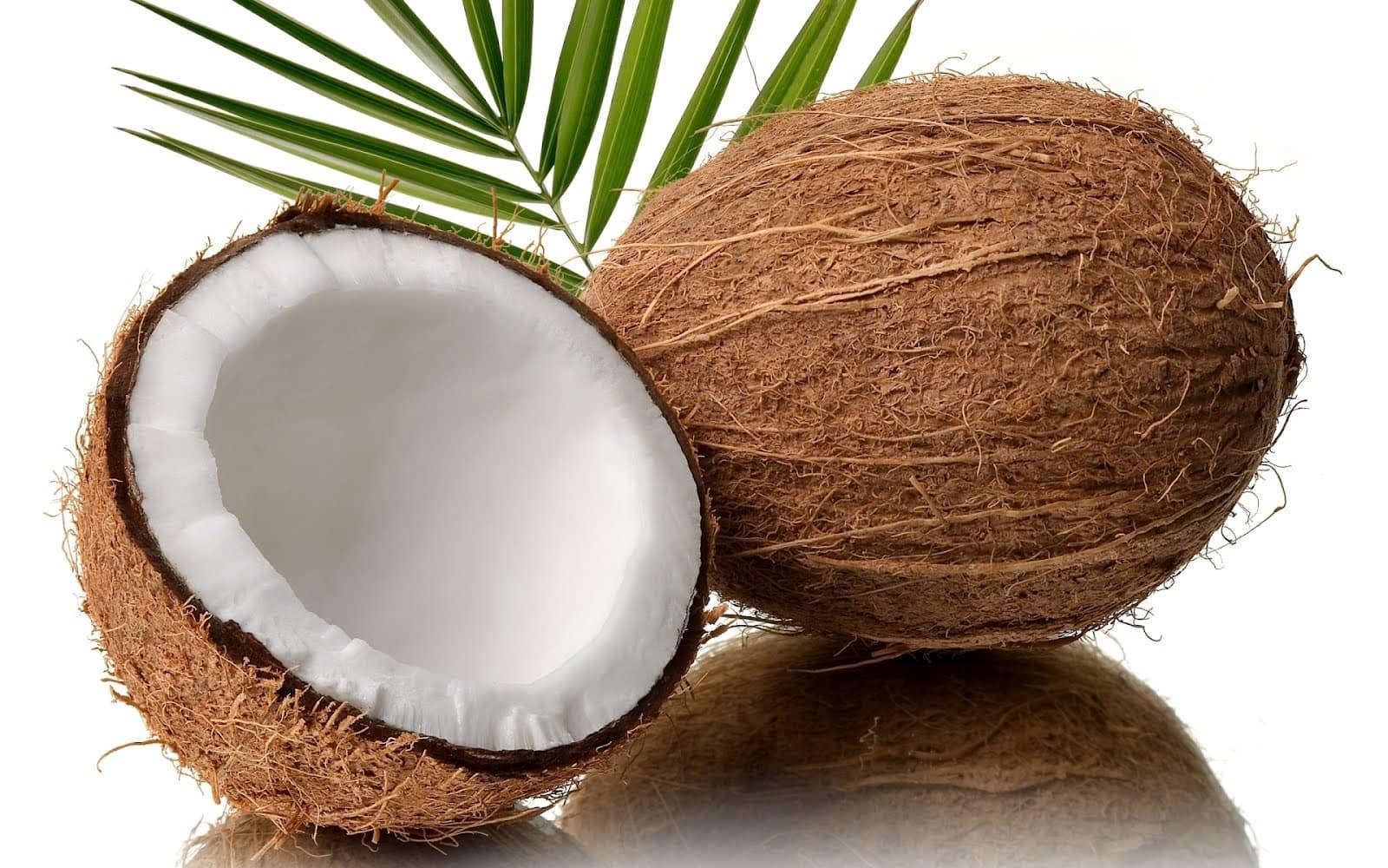 La fruta alimentación saludable coco