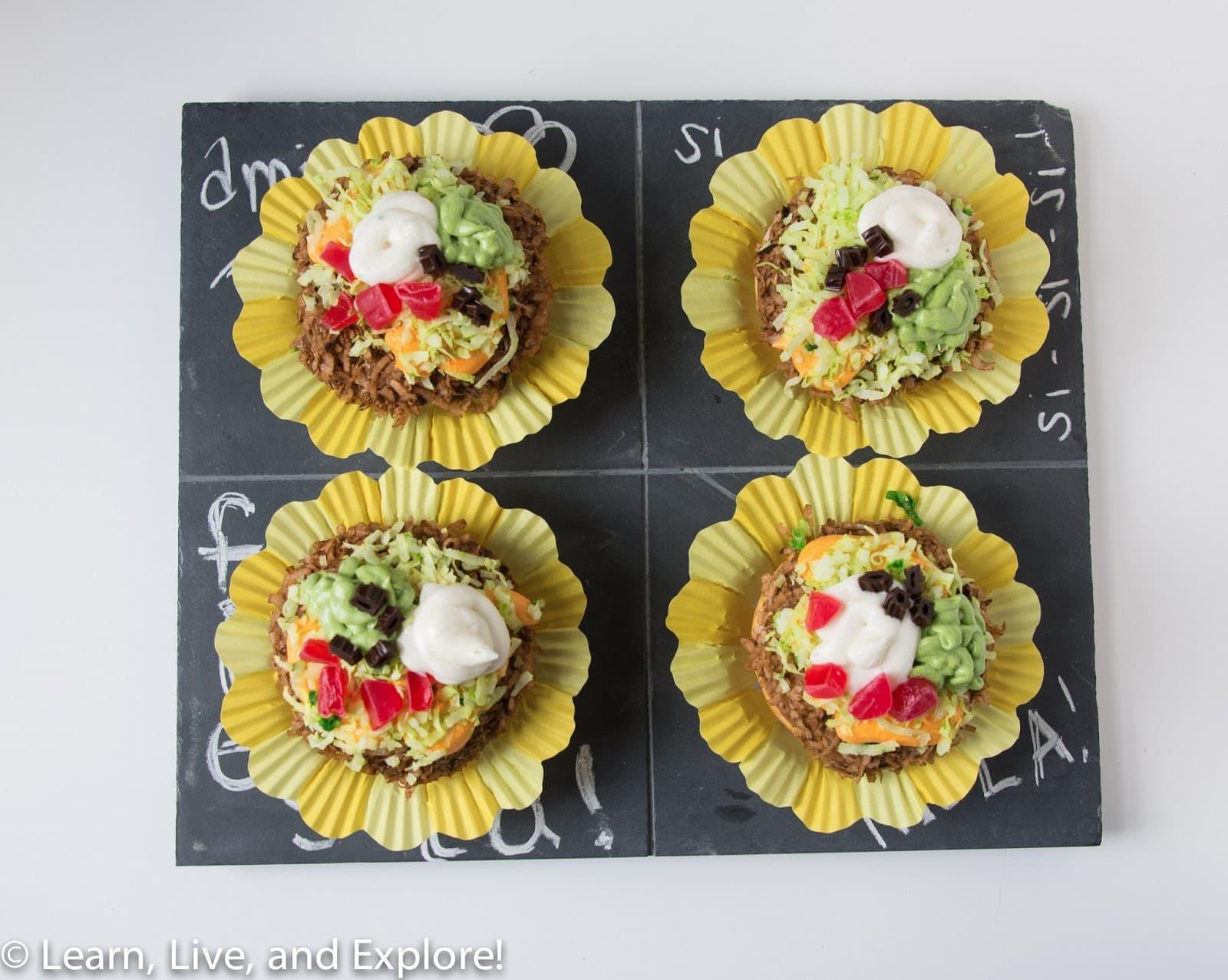 cupcakes de guisantes