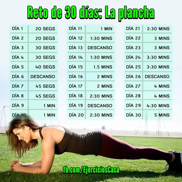Reto de 30 días: la plancha