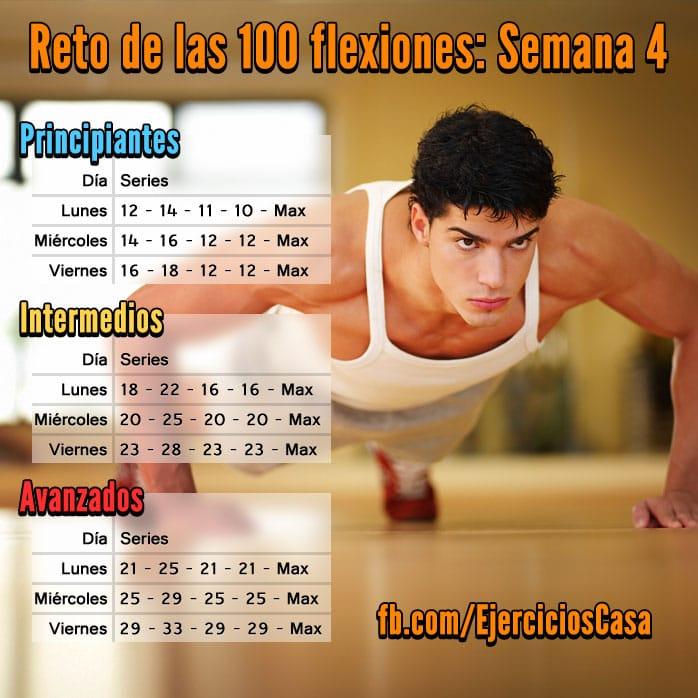 Reto 100 flexiones Semana 4
