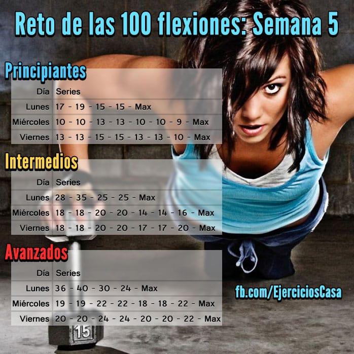 Reto 100 Flexiones semana 5