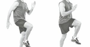 elevaciones de rodilla