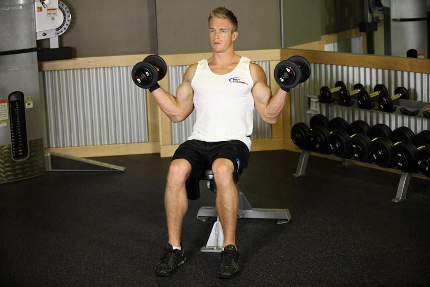 curl de bíceps inclinado interno