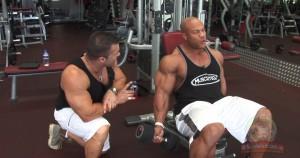 Curl de bíceps inclinado