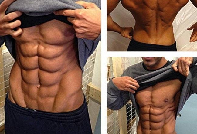 Tipos de abdominales para hombres