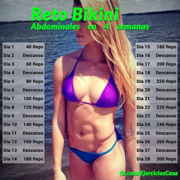 Reto Bikini definir abdominales