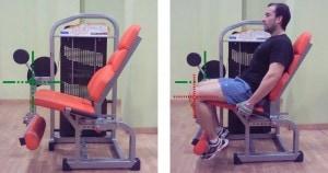Extensiones de cuádriceps a una pierna