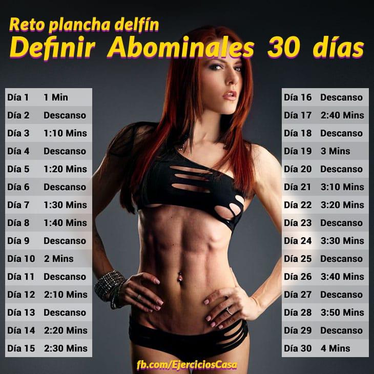 Definir abdominales en 30 dias plancha delfin