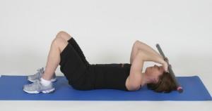 s extensiones de tríceps en el suelo