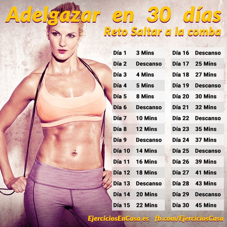 Reto adelgazar en 30 dias saltar a la comba