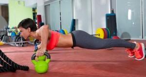 flexiones con kettlebell