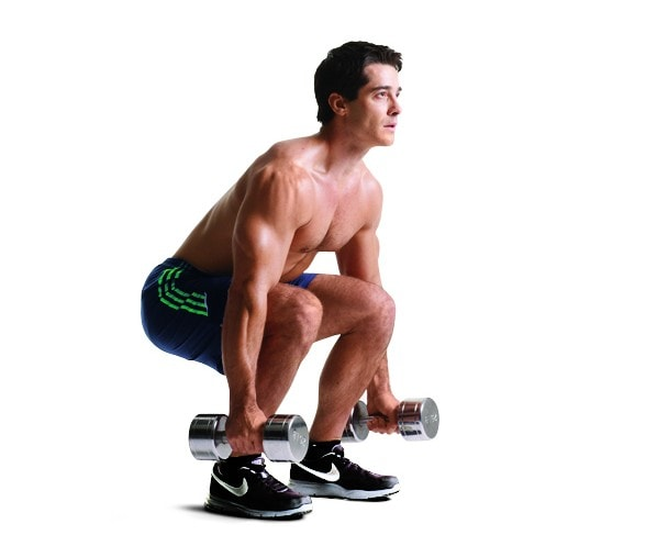 3 ejercicios con pesas para piernas