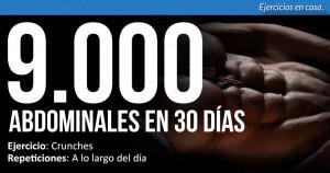 9000 abdominales en 30 dias
