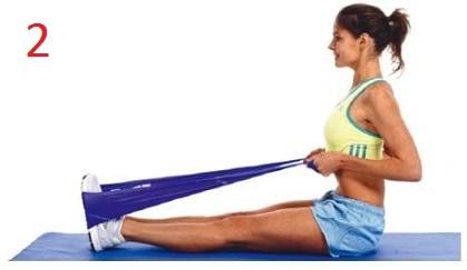 ejercicios para hacer en casa con banda elástica