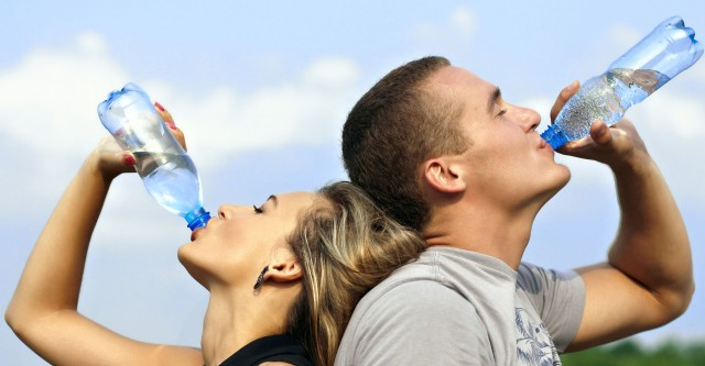Beber agua es importante