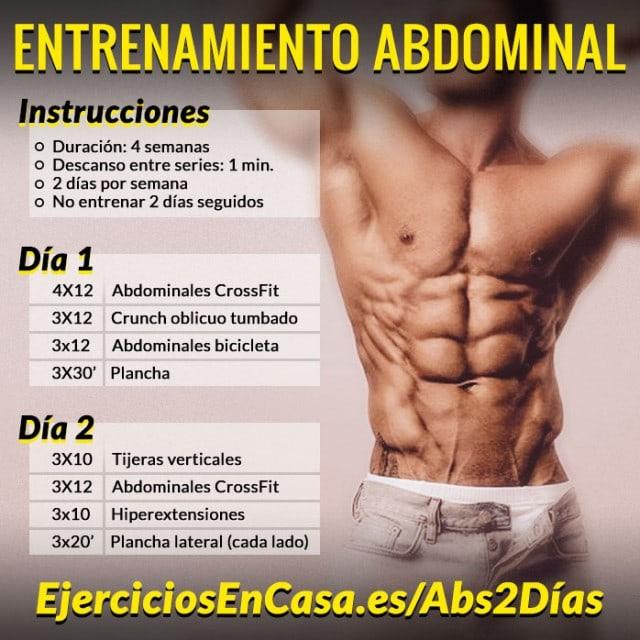 Entrenamiento para abdominales