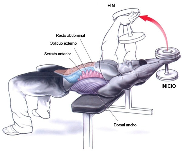 pullover ejercicios de espalda