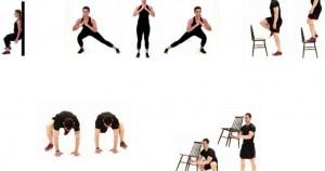 rutina de ejercicios en casa sin material