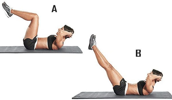 Extensiones de pierna para el abdomen inferior
