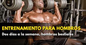¿Te atreves con este entrenamiento para hombros con mancuernas?