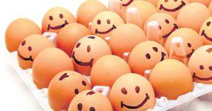 clara y yema de huevo