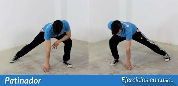 el patinador ejercicio