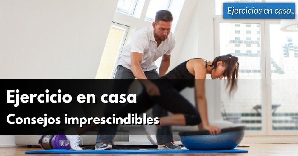 consejos para ejercicio en casa