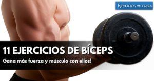 11 ejercicios para bíceps