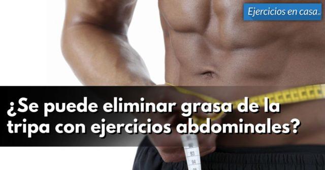 eliminar grasa con ejercicios de abdominales