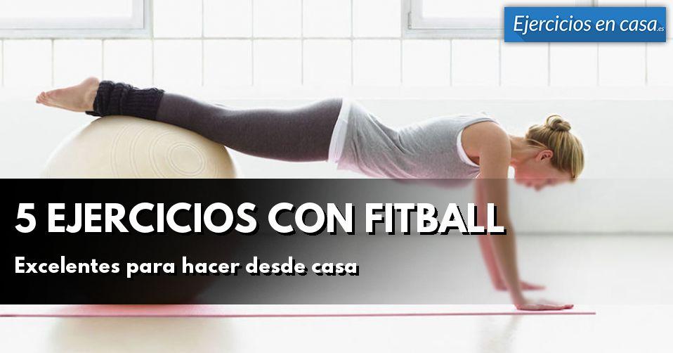 5 ejercicios con fitball perfectos para hacer en casa - Material para hacer ejercicio en casa ...