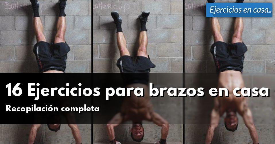 16 ejercicios para brazos en casa ejercicios en casa - Ejercicios cardiovasculares en casa ...