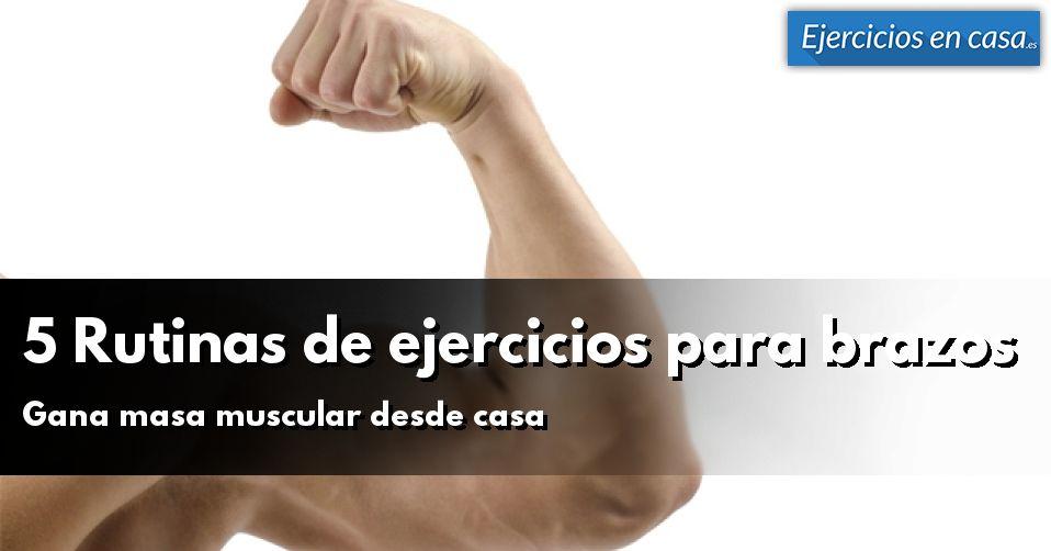 5 rutinas de ejercicios para brazos en casa ejercicios - Rutinas para casa ...